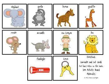 Goodnight Gorilla Activity Board Sample Preschool Activities