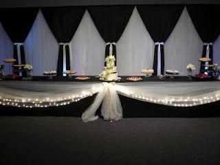 Need backdrop help please, Bees | Black wedding decorations, Light ...