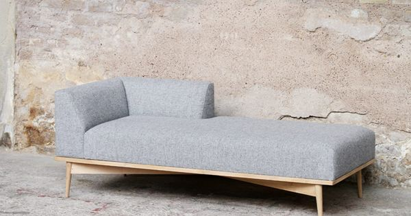 Meridienne canape creation kvadrat tissus mobilier vintage for Canape annee 50