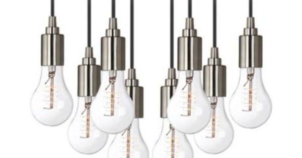 Shop Progress Lighting 4 Light Calven Brushed Nickel: Europa Classic Edison Bulb Brushed Nickel Multi Light