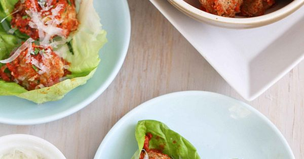 Italian Turkey, Quinoa & Zucchini Meatballs Recipe in Lettuce Wraps ...