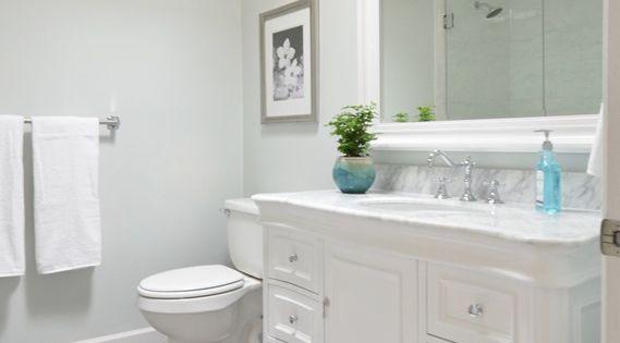 Beautiful Bathroom Remodel Walls Glidden Chelsea Fog