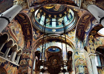 Church of Saint George, Oplenac, Serbia. with its extraordinary mosaics and rich