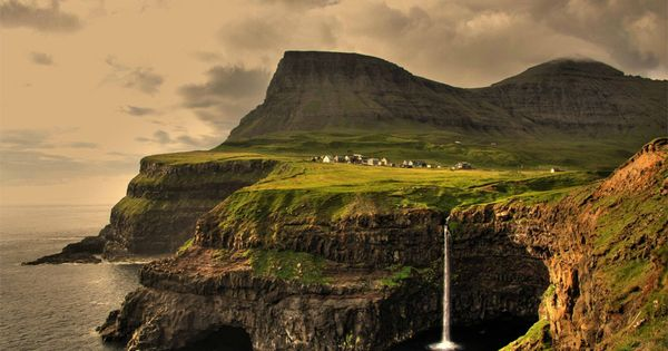 Gasadalur Village, Faroe Islands off the coast of Denmark/ Most Beautiful Villages