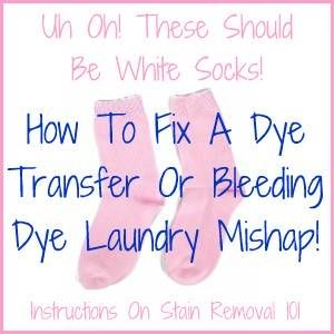 How To Fix A Dye Transfer Or Bleeding Dye Laundry Mishap Laundry