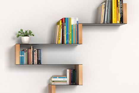 Modular shelving by Estudio Carme Pinós - 60 Creative Bookshelf Ideas