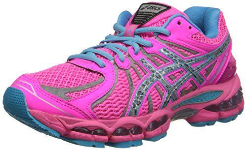 Asics Women S Gel Nimbus 15 Running Shoe Hot Pink Lightning Blue 6