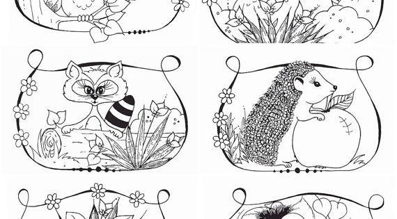 Pinterest Bassethound Kleurplaten Voor Volwassenen Kleurplaten Bosdieren 6 St Printable Bosdieren