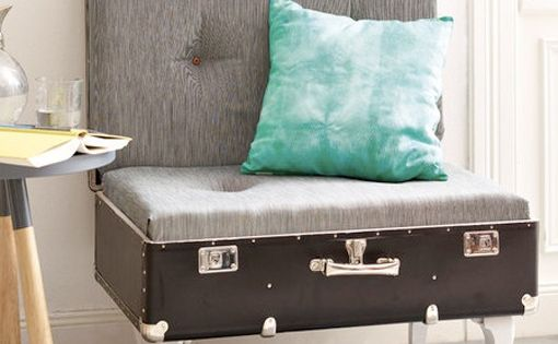 Reuse old suitcases 16 furniture ideas for home for Sofa upcycling