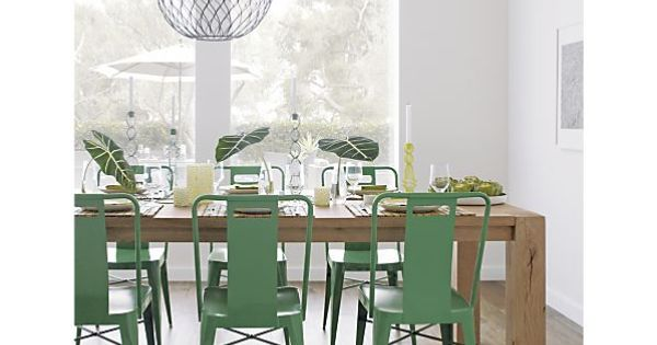Crate and Barrel Ming Green Side Chair, Hoyne Pendant Lamp, Big Sur