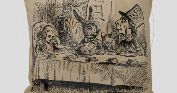 Alice In Wonderland Alice Hatter Marche Hare Throw Pillow 59