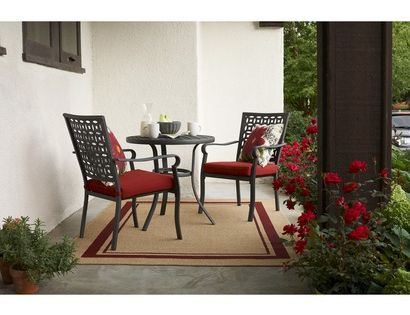 Threshold hawthorne 3 piece metal patio bistro furniture set from target for the front - Bistro sets for small spaces collection ...