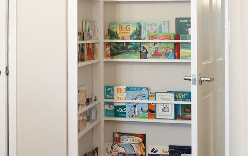 Behind the door space as book shelves in a kids room!! Great