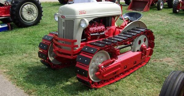 Ford 600 Tractor Hood : Cletrac crawler w ford eng and hood tractors