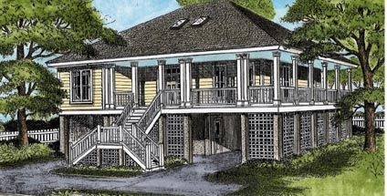 Coastal Style House Plan 45639 With 3 Bed 3 Bath Coastal House Plans Beach House Plans Seaside House