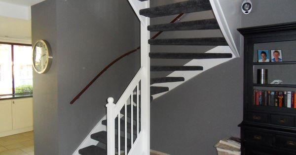 Afbeeldingsresultaat voor mooie gesloten klassieke trap in de woonkamer livingroom pinterest - Trap in de woonkamer ...