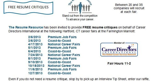 FREE Resume Critiques by The Resume Resource at Hartford, CT - resume critique