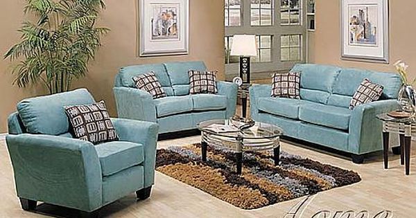 Blue Microfiber Sofa And Chairs Google Search Living