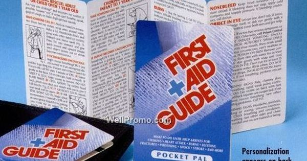 first aid guide pocket pal brochure     wallet sized
