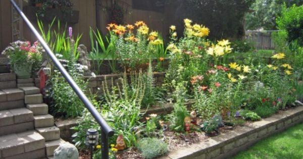 Another Tiered Garden Also For Hardscape Garden Ideas