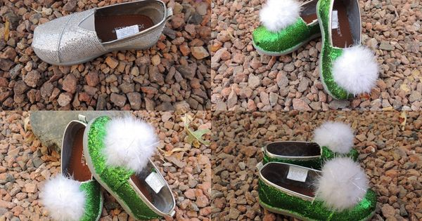 DIY Tinker Bell jingle shoes for toddlers for less than $10.