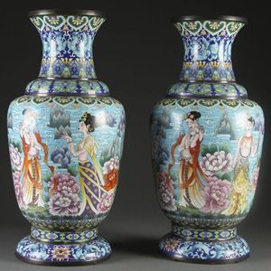 Very Large Oriental Floor Size Vases Very Decorative If You Love