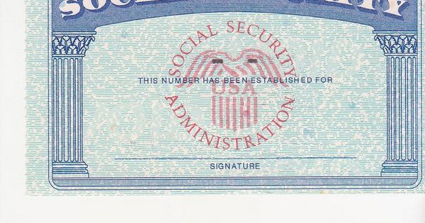 Social Security Card Ssc Blank Color | By Mprgomes | Ideas For The