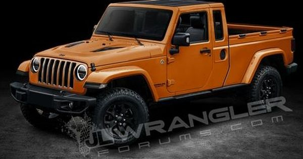 2019 Jeep Wrangler Pickup Rendered With Images Wrangler Pickup