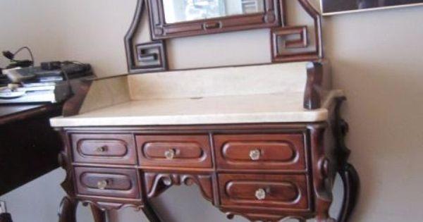 Mueble tocador de la ditada restaurado coleccion muebles - Muebles antiguos sevilla ...