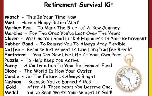 Retirement Survival Kit In A Can. Humorous Novelty Fun Gift - Friend ...