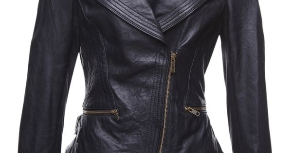 Perfect....want a black leather jacket like this ...