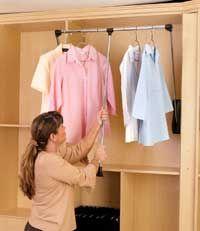 Cost To Install A Pull Down Closet Rod 2020 Closet Rod Closet Hardware Closet Rods