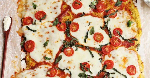 Spaghetti squash pizza crust pizza!