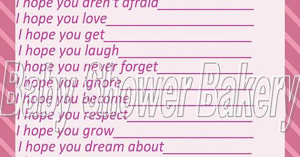 Have your baby shower guests write down their wishes for baby with