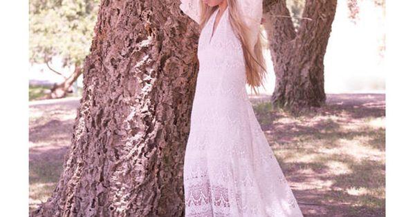 Robe de mariée vintage hippie  Décoration mariage  Wedding ...