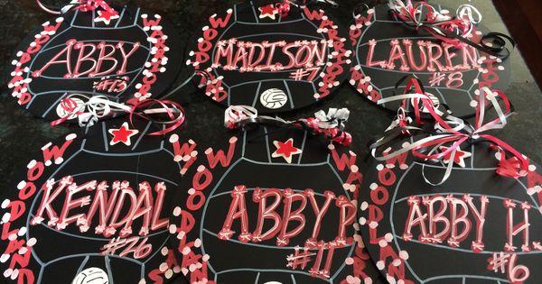 Volleyball Locker Spirit Decorations Crafts Pinterest