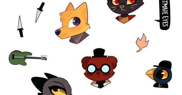 night in the woods sticker sheet by sailgoat on deviantart night in the woods pinterest. Black Bedroom Furniture Sets. Home Design Ideas