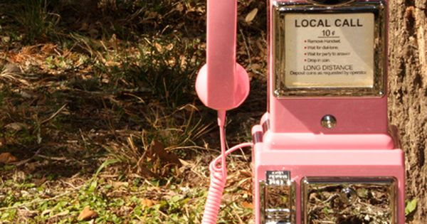 #retro pink payphone junkgypsy