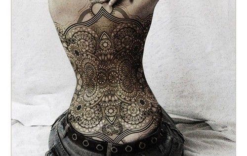 lace corset tattoo
