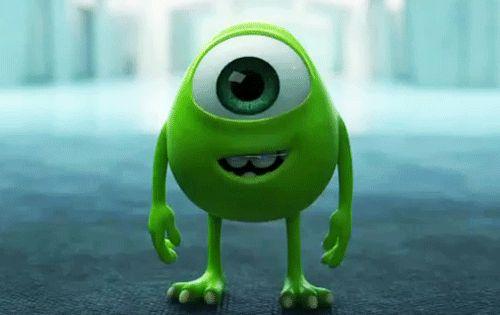 Movie Tv Cartoon Gifs Baby Mike Wazowski Disney Pixar Disney And Dreamworks