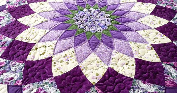 Amish Quilt Giant Dahlia Pattern By Quiltsbyamishspirit On