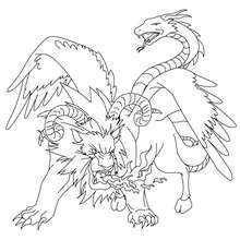 Chimera The Monstruous Fire Breathing Creature Coloring Page Coloring Page Countries Coloring Monster Coloring Pages Coloring Pages Mythological Creatures