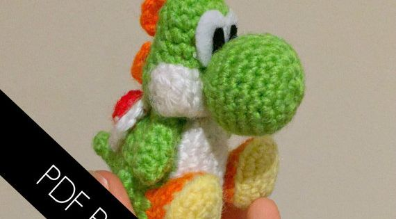 Yoshi-inspired amigurumi written pattern by LittleYarnTales Knit & Croc...