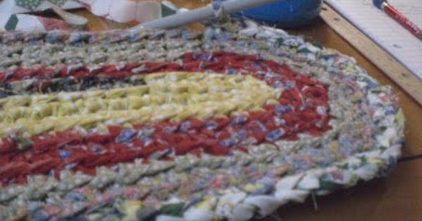 Crocheted Rag Rug Tutorial Part Three Crochet Rag Rug Rag Rug Tutorial Rug Tutorial