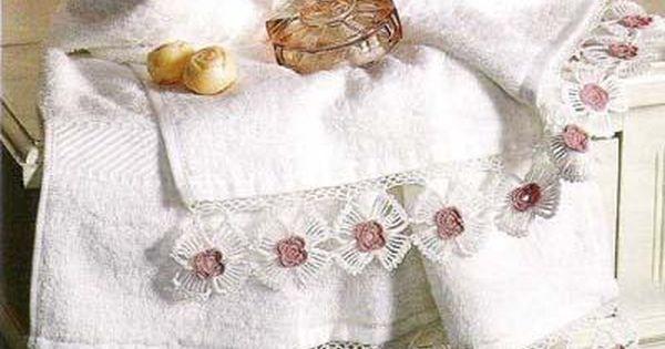 حواف كروشيه تحفه على المناشف ومفارش القماش بالباترون منتدى جدايل Crochet Home Decor Crochet Home Crochet Patterns