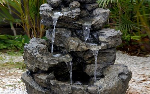 Better Homes and Gardens River Rock Fountain: Patio ...