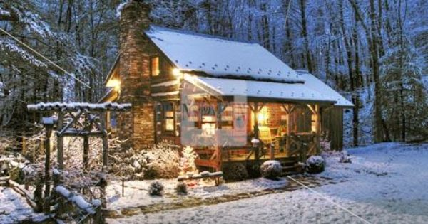 Log Cabin In Nc Mountains In Snow Boone Area Christmas
