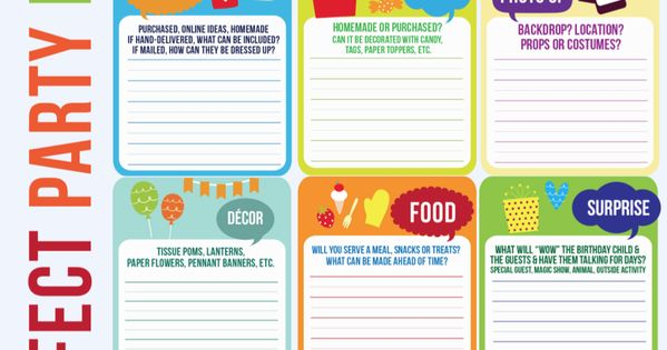 FREE Master Party Planning Template! karaspartyideas.com #party ...
