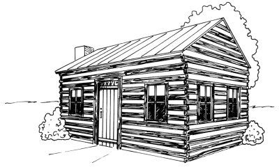 How To Draw A Log Cabin In 4 Steps Cabin Art Drawings Designs To Draw