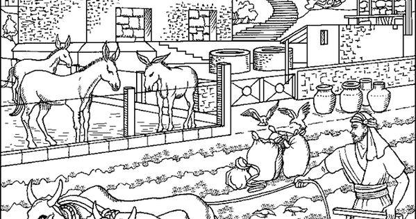 Parable of the rich fool coloring page parables for The rich fool coloring page